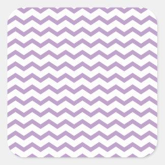 Diseño púrpura de moda de Chevron Colcomanias Cuadradases