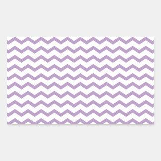 Diseño púrpura de moda de Chevron Pegatina Rectangular