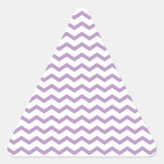 Diseño púrpura de moda de Chevron Pegatina Triangular