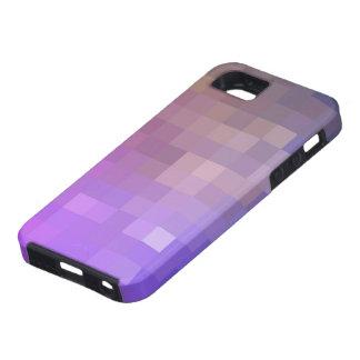 Diseño púrpura de Pixelated iPhone 5 Protectores