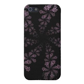 Diseño púrpura del amor del Hippie de la flor del  iPhone 5 Funda