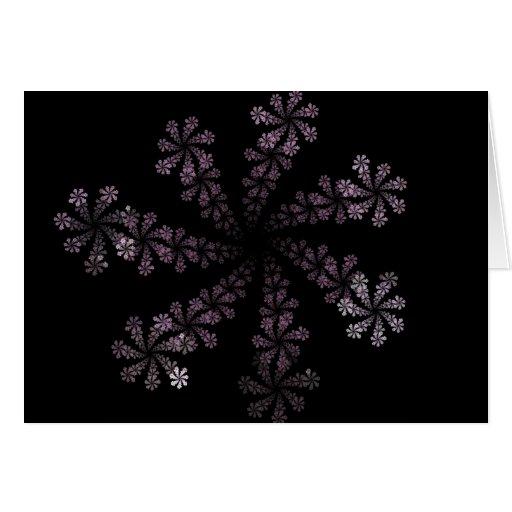 Diseño púrpura del amor del Hippie de la flor del  Tarjetón