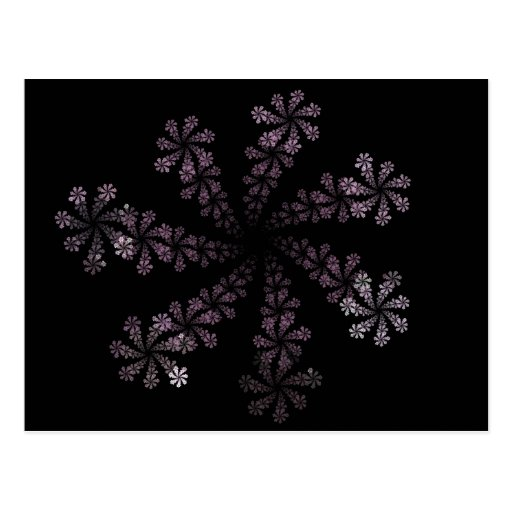 Diseño púrpura del amor del Hippie de la flor del  Postal