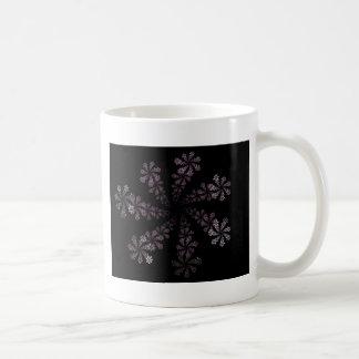 Diseño púrpura del amor del Hippie de la flor del  Taza