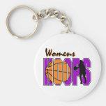 diseño púrpura del baloncesto de los aros para muj llaveros personalizados