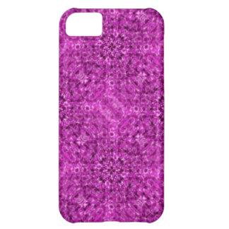 Diseño púrpura del caleidoscopio del flujo funda para iPhone 5C
