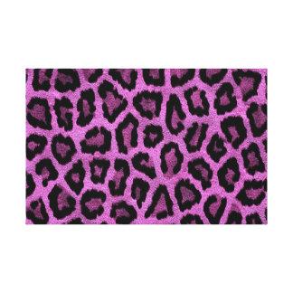 Diseño púrpura del estampado de animales impresion en lona