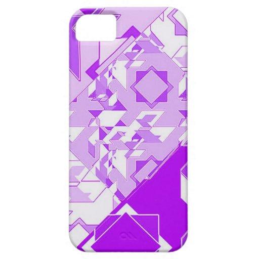 Diseño púrpura del extracto del fractal funda para iPhone SE/5/5s