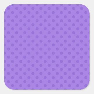 Diseño púrpura del fondo del lunar de DIY sus los Pegatina Cuadrada