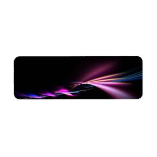 diseño púrpura del fractal que brilla intensamente etiqueta de remite