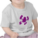 Diseño púrpura del Froggy Camisetas