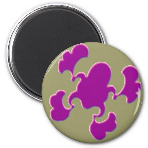 Diseño púrpura del Froggy Iman Para Frigorífico