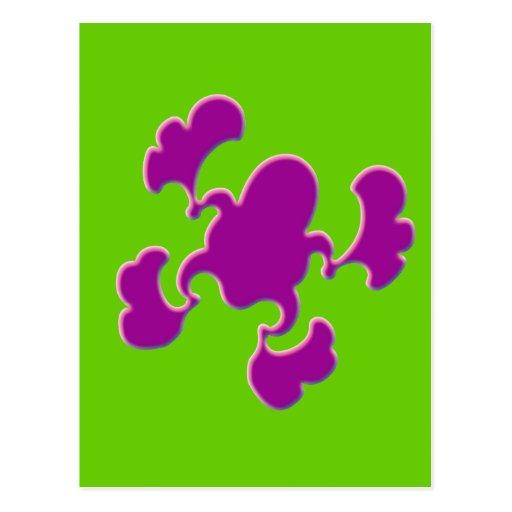 Diseño púrpura del Froggy Postales
