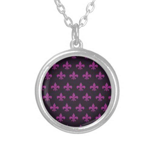 Diseño púrpura del lunar y de la forma pendiente personalizado