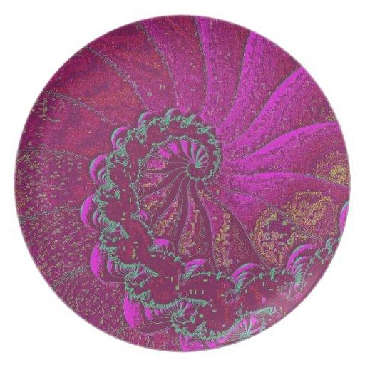 Diseño púrpura del oro del arte impresionante del  platos