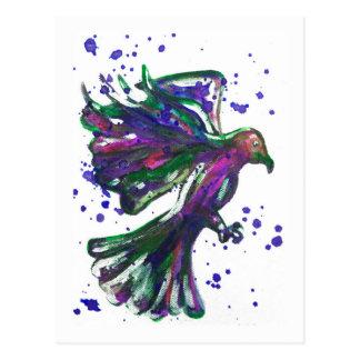 Diseño púrpura del pájaro del Watercolour de la Tarjetas Postales