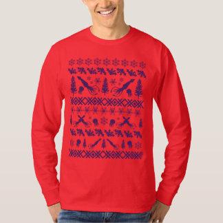 """Diseño púrpura del """"suéter feo del navidad"""" del playera"""