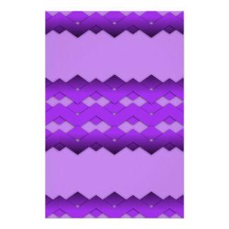 Diseño púrpura del zigzag perfect poster