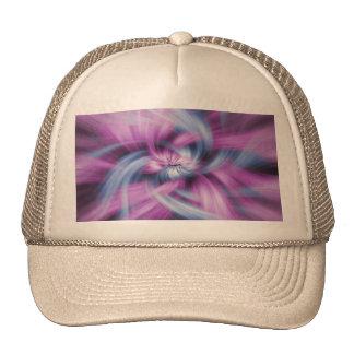 Diseño púrpura gorros bordados