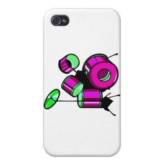 Diseño púrpura gráfico determinado de la imagen de iPhone 4 cárcasa