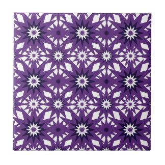 Diseño púrpura intrépido de Starburst del modelo d Azulejo Cuadrado Pequeño