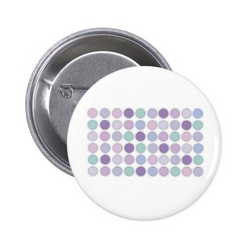 ¡Diseño púrpura pálido de los círculos! Pin Redondo 5 Cm