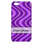 Diseño púrpura personalizado de la onda