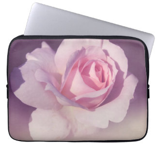 Diseño púrpura subió vintage del rosa de la flor mangas portátiles