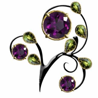 Diseño púrpura, violeta de la gema escultura fotografica