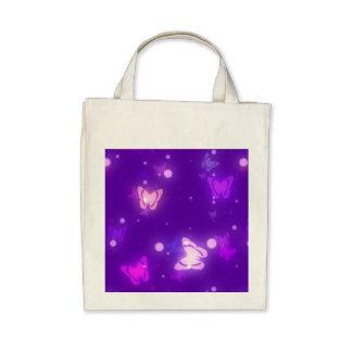 Diseño púrpura violeta de las mariposas ligeras de bolsas
