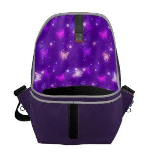 Diseño púrpura violeta de las mariposas ligeras de bolsa messenger