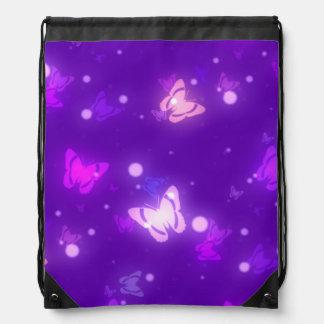Diseño púrpura violeta de las mariposas ligeras de mochilas