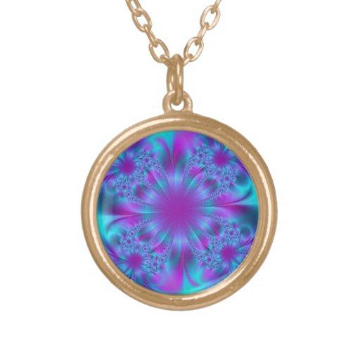 Diseño púrpura y azul del fractal grimpolas