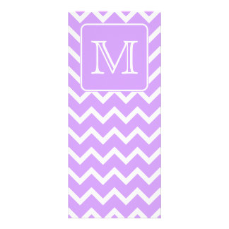 Diseño púrpura y blanco de Chevron Monograma de e Tarjetas Publicitarias A Todo Color