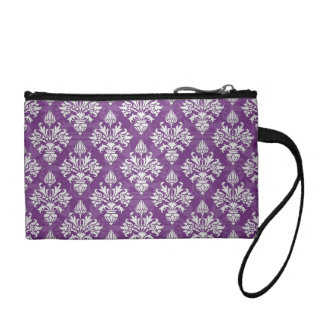 Diseño púrpura y blanco del damasco de la