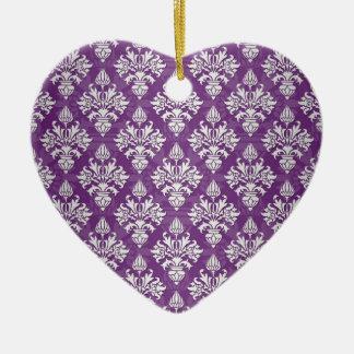 Diseño púrpura y blanco del damasco de la alcachof ornamente de reyes