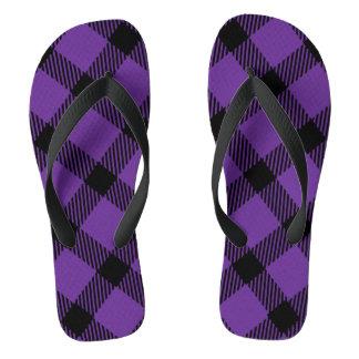 Diseño púrpura y negro de la tela escocesa