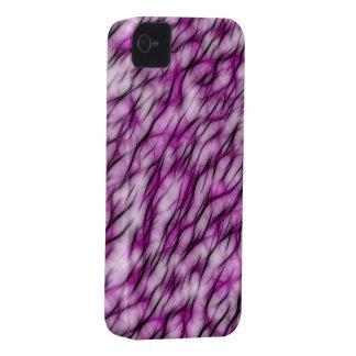 Diseño púrpura y negro exótico del modelo del frac iPhone 4 Case-Mate fundas