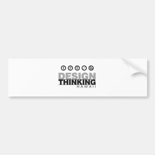 Diseño que piensa el logotipo del concepto de Hawa Pegatina De Parachoque