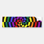 Diseño quebrado del espiral del arco iris etiqueta de parachoque