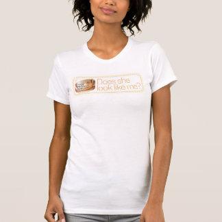 """Diseño querido punteado """"ella"""" camiseta playera"""