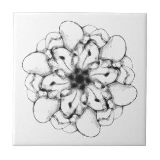 Diseño radial abstracto 1 floral tejas  ceramicas