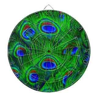 Diseño radiante del arte de las plumas del pavo re