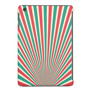 Diseño radiante rojo, verde, y grisáceo fundas de iPad mini