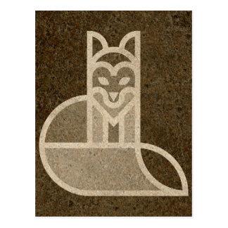 Diseño rápido del arte del Fox de Brown Postal