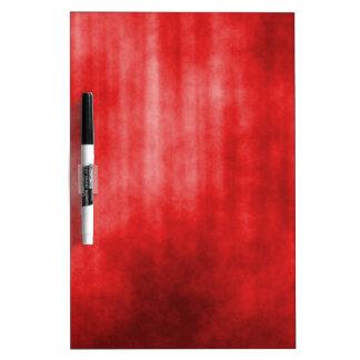 Diseño rayado rojo del Grunge Tablero Blanco