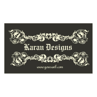 Diseño real clásico plantillas de tarjetas de visita