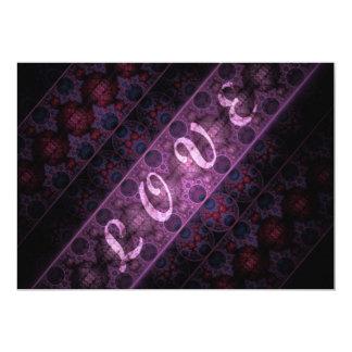 """Diseño real del fractal del amor invitación 5"""" x 7"""""""