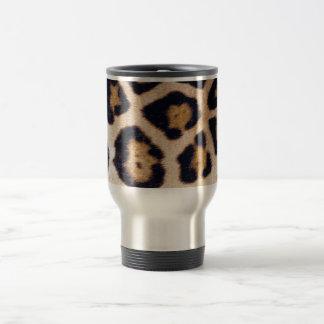 Diseño real del modelo de la piel del gato grande  taza de viaje de acero inoxidable