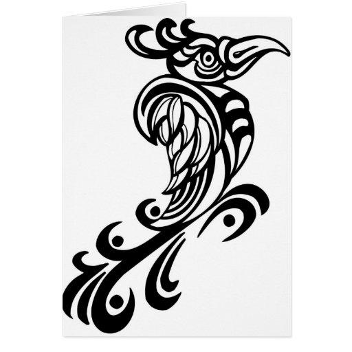Diseño real del pájaro tarjeta de felicitación